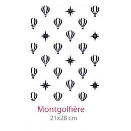 Pochoir Montgolfières