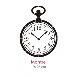 Pochoir Montre