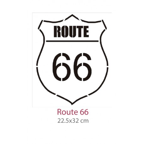 Pochoir Route 66