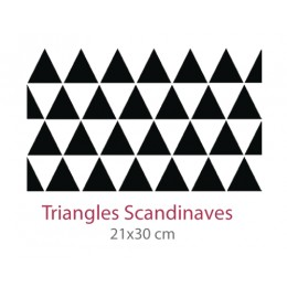 Pochoir Triangles Scandinaves