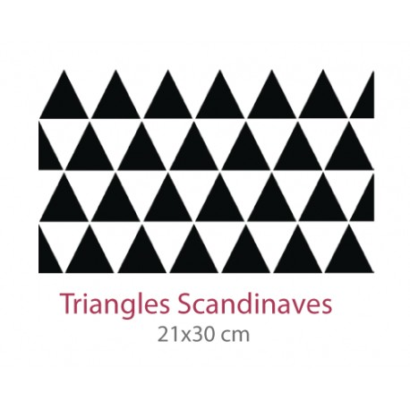 Pochoir Triangles Scandinaves