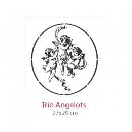 Pochoir Trio Angelots