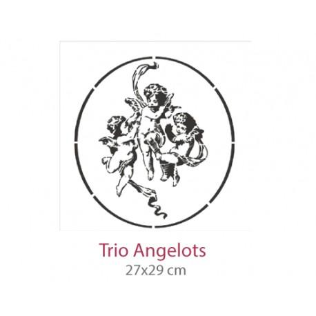 Pochoir Trio Angelots
