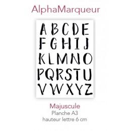 Pochoir AlphaMarqueur Majuscule