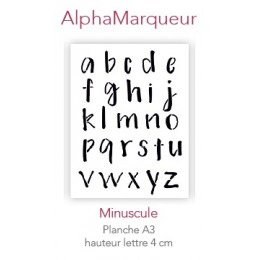 Pochoir AlphaMarqueur Minuscule