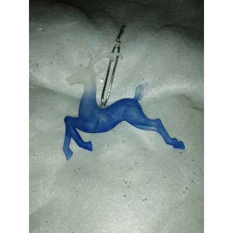 Cerf bleu translucide