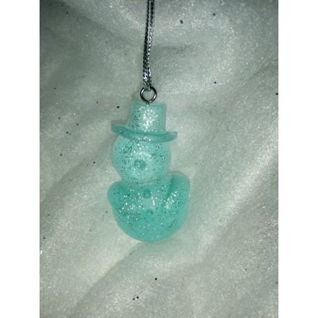 Bonhomme de neige turquoise paillette