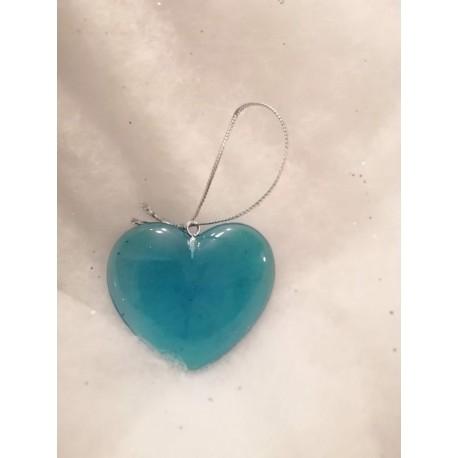 Coeur bleu translucide