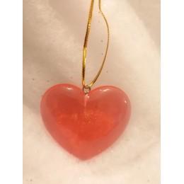 Coeur rouge translucide