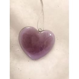 Coeur violet translucide