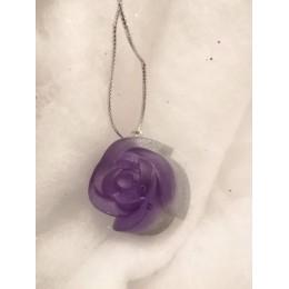 Rose violette paillette argent