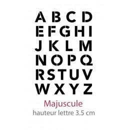 Pochoir Alphabet AlphAvenir Majuscule