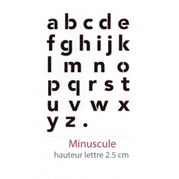 Pochoir Alphabet Alphavenir Minuscule