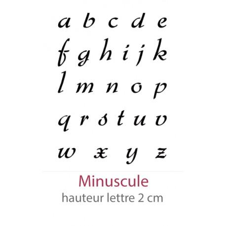 Pochoir Alphabet Camaelle Minuscule
