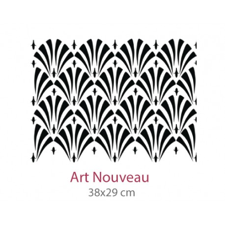 Pochoir Art Nouveau