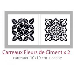 Pochoir Carreaux Fleurs de Ciment 10x10