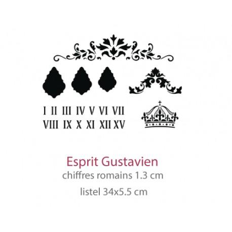 Pochoir Esprit Gustavien