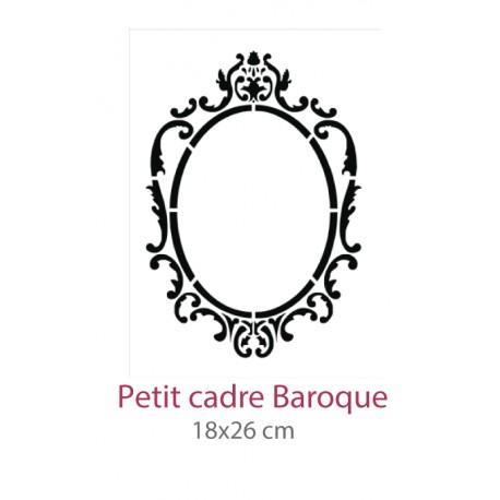 Pochoir Petit Cadre Baroque La Boutique De Janig