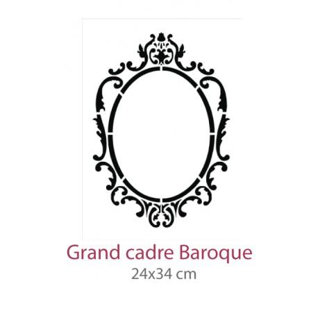 Pochoir Grand Cadre Baroque