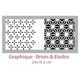 Pochoir Graphique Brisés & Etoiles